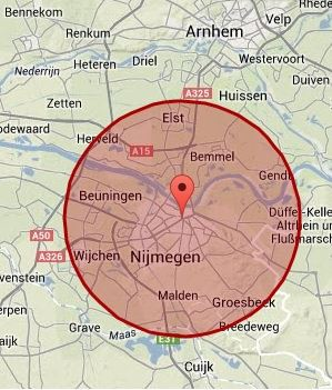 Werkgebied Nijmegen